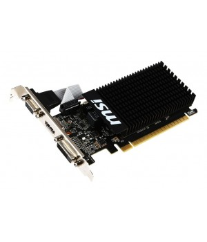 Видеокарта MSI GeForce GT 710 954Mhz PCI-E 2.0 1024Mb 1600Mhz 64 bit DVI HDMI HDCP Low Profile GT 710 1GD3H LP