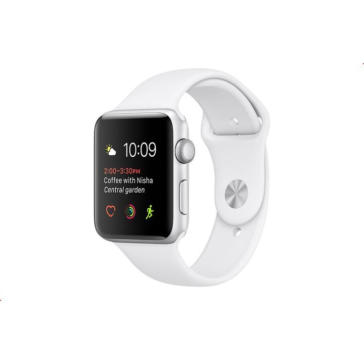 Умные часы APPLE Watch 38mm Silver Aluminium Case with White Sport Band MNNG2RU/A