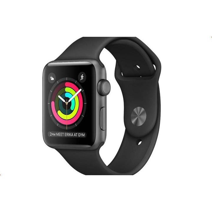 Умные часы APPLE Watch Series 3 38mm Grey Space with Black Sport Band MQKV2RU/A