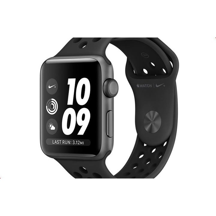 Умные часы APPLE Watch Series 3 Nike+ 38mm Aluminium Space Gray Sports Strap Anthracite-Black MQKY2RU/A