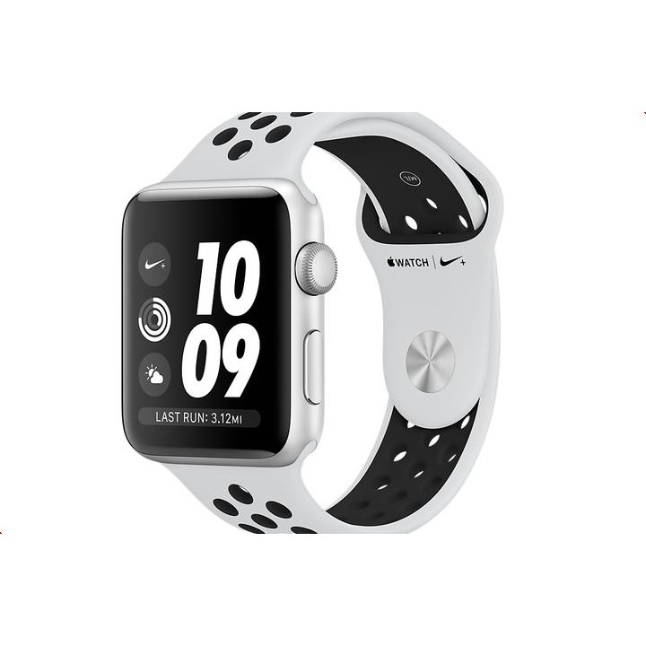 Умные часы APPLE Watch Series 3 Nike+ 42mm Silver Aluminium Sports Strap Platinum-Black MQL32RU/A