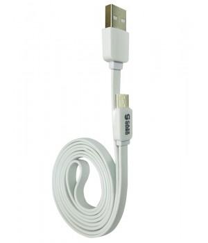 Кабель CaseGuru USB-Type C, плоский, силикон, цвет Белый