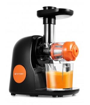 Шнековая соковыжималка Kitfort KT-1111-2, оранжевая